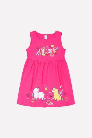 Платье(Весна-Лето)+girls (темно-розовый к1268)