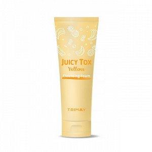 Trimay Очищающая пенка на основе желтого комплекса Juicy Tox Yellow Cleansing Foam
