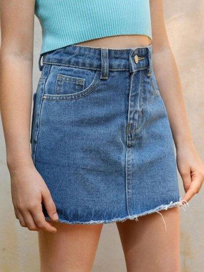 Модная, стильная подростковая одежда и обувь по супер ценам — Джинсовые юбки для девочек