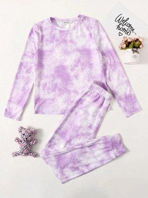 Тай дай Повседневный Домашняя одежда для девочек