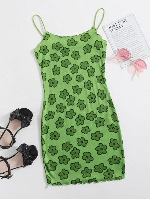 Платье для девочек с цветочным принтом для девочек
