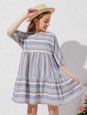 Платье в полоску для девочек