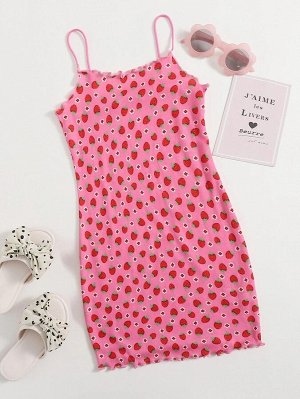 Платье с оригинальным принтом для девочек