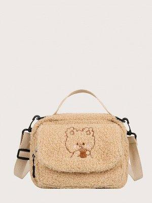 Плюшевая сумка-сэтчел с рисунком медведя для девочек