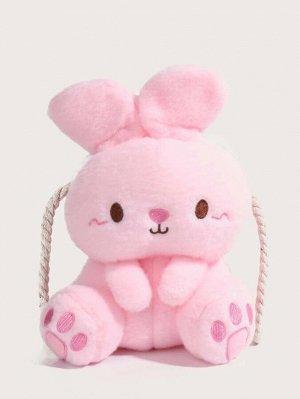 Плюшевая сумка через плечо в форме кролика для девочек