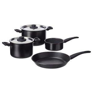 Набор кухонной посуды, 6 предм., черный