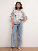 Шифоновая блузка B2596/aquarelle