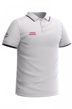 Белый Состав: Хлопок - 100% Мужская футболка-поло с коротким рукавом. Прямой крой.