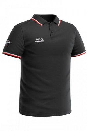 Черный Состав: Хлопок - 100% Мужская футболка-поло с коротким рукавом. Прямой крой.