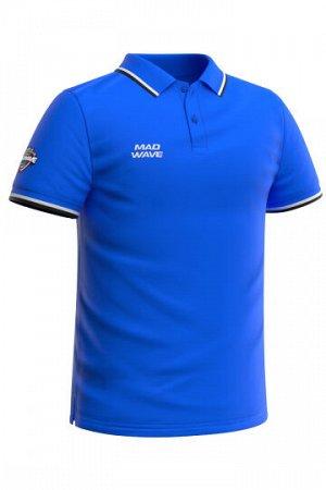 Синий Состав: Хлопок - 100% Мужская футболка-поло с коротким рукавом. Прямой крой.