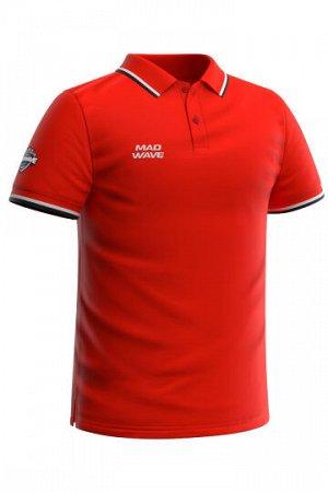 Красный Состав: Хлопок - 100% Мужская футболка-поло с коротким рукавом. Прямой крой.