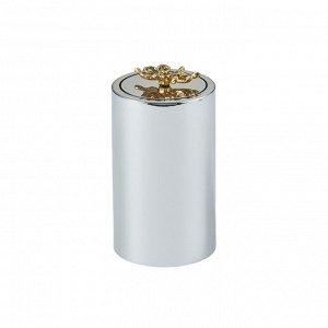 41168 GIPFEL Подставка для зубочисток FIORITA, 5,7х11см, Цвет: серебристый, золотистый. Материал: пластик, сталь, нерж.сталь, цинковый сплав.