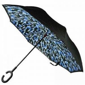"""Зонт-трость механический, обратного сложения """"Милитари"""" плащ"""