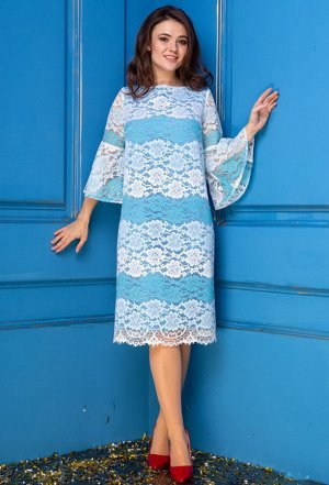 Платье Anastasia 268 голубой