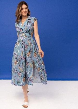 """Платье """"Уэнди"""" для беременных и кормящих голубое"""