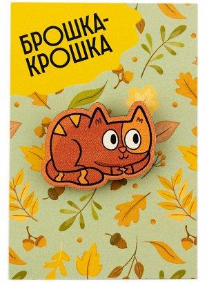 """Деревянный значок """"Кошка"""""""