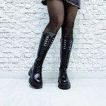 Черные кожаные высокие ботинки МИЛИ37