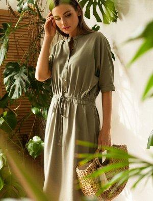 Платье из плотной вискозы с лайоселлом