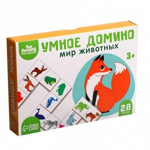 """Настольная игра """"Умное домино. Мир животных"""", Н00007"""