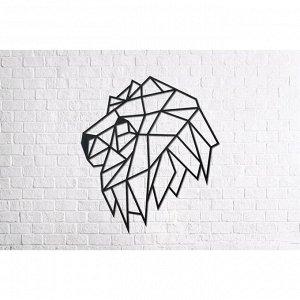 Деревянный интерьерный пазл «Голова льва»
