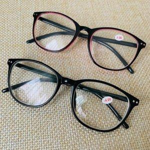 Очки для зрения цвет оправы розово-черный