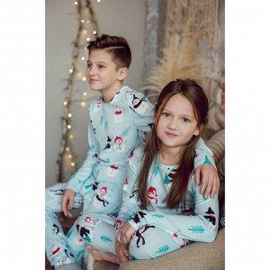 Пижама детская СНЕГОВИКИ