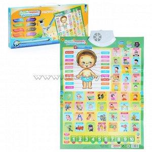 Детский говорящий и обучающий плакат в коробке