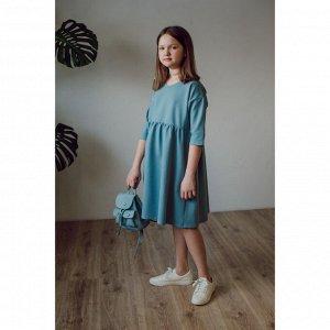 Платье для девочки ГОЛУБОЙ