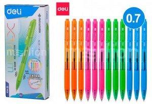 Ручка автоматическая шариковая EQ02930 X-tream синяя 0.7мм (1167816) Deli {Китай}