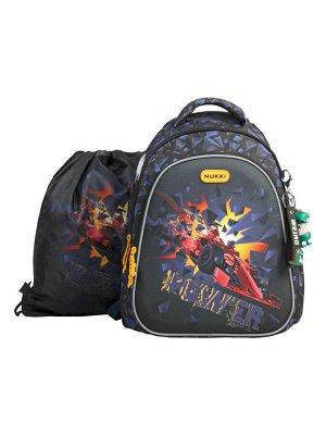Школьный ранец NUK21-B4001-01 черный; желтый мальчики
