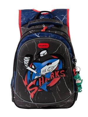Школьный рюкзак NUK21-B5001-01 черный; красный мальчики