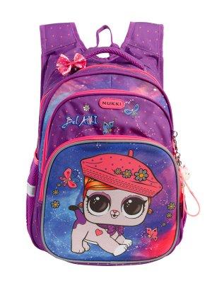 Школьный рюкзак NUK21-NG001-3 фиолетовый девочки