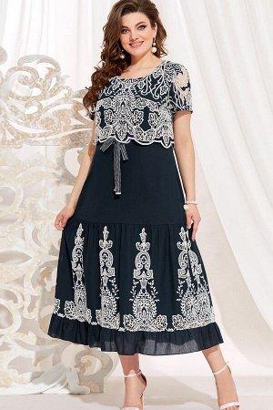 Платье Vittoria Queen 13843 темно-синий