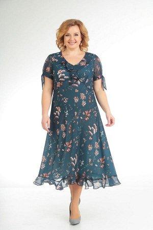 Платье Slaviaelit 435 морская_волна