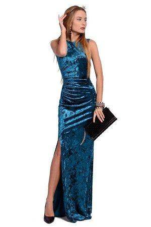 Платье PATRICIA by La Cafe NY1368-2 изумрудный,морская волна