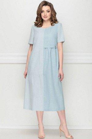 Платье LeNata 11127 голубой