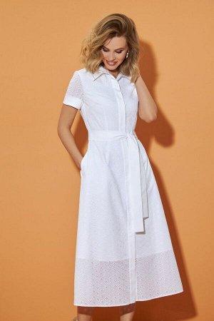 Платье DiLiaFashion 0495 белый