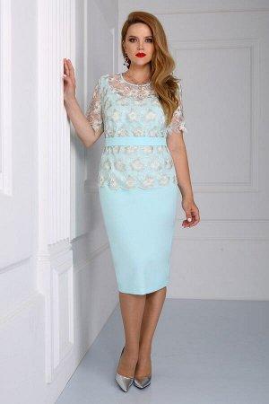 Платье Matini 3.1000 мята+цветы