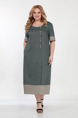 Платье Bonna Image 563 зеленый-бежевый