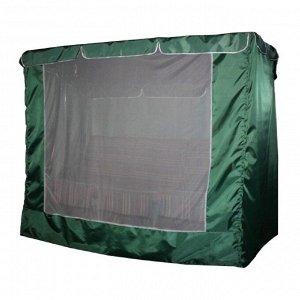 Тент-укрытие для 3-местных качелей с москитной сеткой, 210 х 130 х 170 см