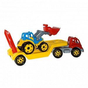 Машина Автовоз Титан + Трактор в коробке (4шт) 64*21*24 Т3916