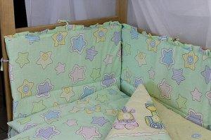Комплект в кроватку  6 предметов, бязь