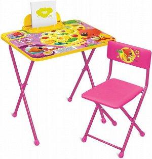 ММ1/2 Комплект Ми-Ми-Мишки с лисичкой (стол520+пенал+мягкий стул)