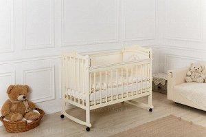 Кроватка детская Incanto Pali с мишкой, колесо/качалка, PK
