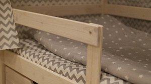 Бортик для кроватки Лапландия
