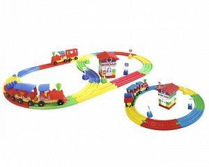 Конструктор железная дорога «Терминал №2» из 121 детали в коробке (4 шт) Т1240