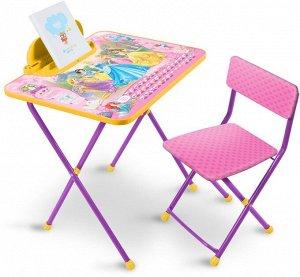 Д2П Комплект Disney 2 Принцесса Disney (стол 570+пенал+стул мягкий)