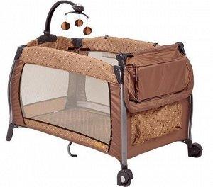 Манеж Selby 216, 120х60х77, колесо, сумка д/переноски, пеленал. доска, мобиль