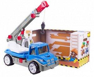 Машина Кран Атлант СИНИЙ в коробке (4шт) 57*30*26 Т3893