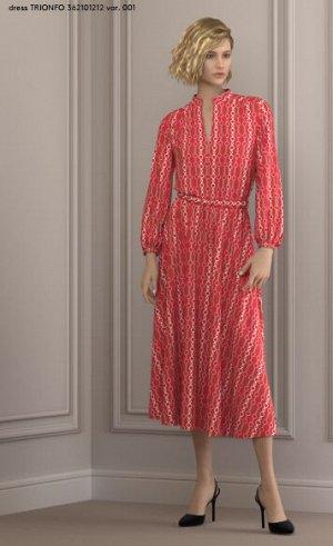 Платье 362101212 var. 001   93% Viscosa, 7% Elastan